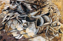 Charge of the Lancers, 1915 by Umberto Boccioni | Painting Reproduction