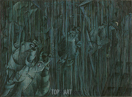 States of Mind III: Those Who Stay, 1911 | Umberto Boccioni | Painting Reproduction