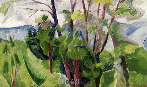 Landscape, 1916 | Umberto Boccioni | Painting Reproduction