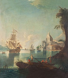 Seascape with Fishermen, undated by Unknown Master | Painting Reproduction