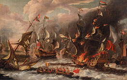 Sea Battle, undated by Unknown Master | Painting Reproduction
