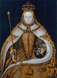 Queen Elizabeth I, c.1600 by Unknown Master | Painting Reproduction