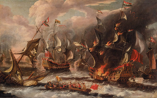 Sea Battle, undated | Unknown Master | Painting Reproduction