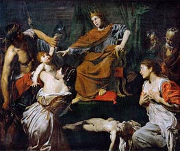 Judgment of Solomon, c.1625 by Valentin de Boulogne | Painting Reproduction