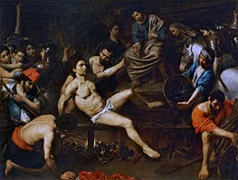 The Martyrdom of Saint Laurence | Valentin de Boulogne | Painting Reproduction