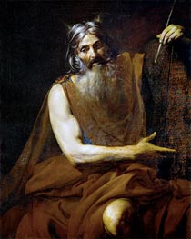 Moses with the Tablets of the Law, c.1627/32 by Valentin de Boulogne | Painting Reproduction