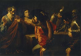 The Denial of St. Peter, 1620 von Valentin de Boulogne | Gemälde-Reproduktion
