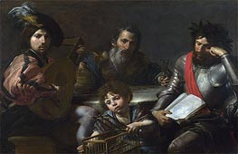 The Four Ages of Man, c.1629 by Valentin de Boulogne | Painting Reproduction