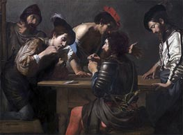 Soldiers Playing Cards and Dice (The Cheats), c.1618/20 by Valentin de Boulogne | Painting Reproduction