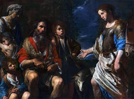 Erminia and the Shepherds, c.1630 by Valentin de Boulogne | Painting Reproduction
