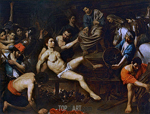 The Martyrdom of Saint Laurence, c.1621/22 | Valentin de Boulogne | Painting Reproduction