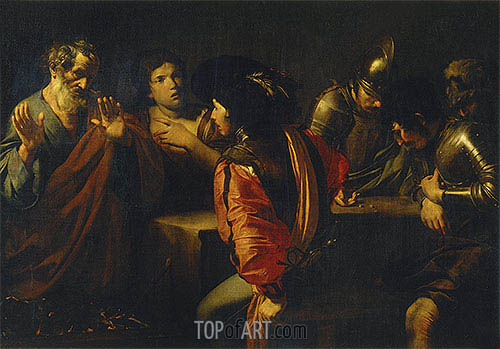 The Denial of St. Peter, 1620   Valentin de Boulogne   Painting Reproduction