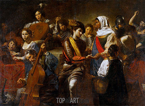 Fortune Teller with Concert Party, 1631 | Valentin de Boulogne | Painting Reproduction