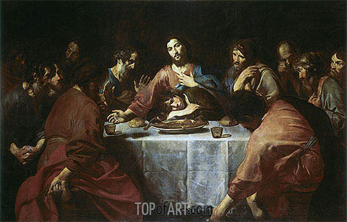 Last Supper, 1625 | Valentin de Boulogne | Painting Reproduction