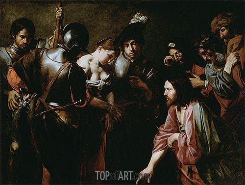 Christ and the Adulteress, c.1620/30 | Valentin de Boulogne | Painting Reproduction