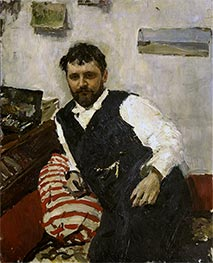 Portrait of the Artist Konstantin Korovin | Valentin Serov | Painting Reproduction