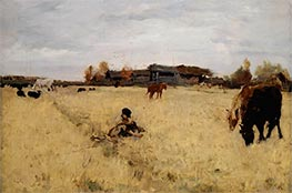 October, Domotcanovo, 1895 by Valentin Serov | Painting Reproduction