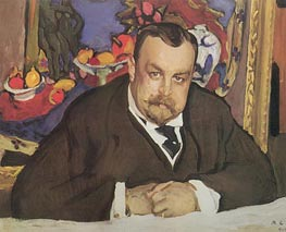 Portrait of Ivan Morozov, 1910 by Valentin Serov | Painting Reproduction