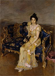 Portrait of Sophia Botkina, 1899 by Valentin Serov | Painting Reproduction