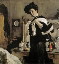 Portrait of Henrietta Girshman, 1907 by Valentin Serov | Painting Reproduction