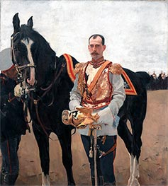 Portrait of Grand Duke Pavel Alexandrovich, 1897 by Valentin Serov | Painting Reproduction