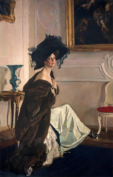 Portrait of Princess Olga Orlova, 1911 | Valentin Serov | Painting Reproduction
