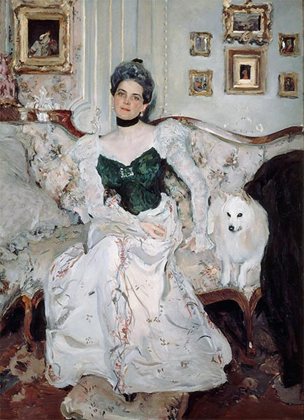 Portrait of Princess Zinaida Yusupova, 1902 | Valentin Serov | Painting Reproduction