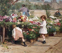 The Young Flower Seller, Undated by Victor Gabriel Gilbert | Painting Reproduction
