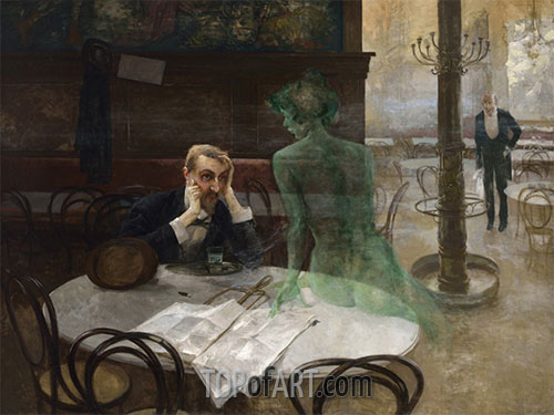 The Absinthe Drinker, 1901 | Viktor Oliva | Painting Reproduction