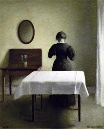 Interior, 1898 by Hammershoi | Painting Reproduction