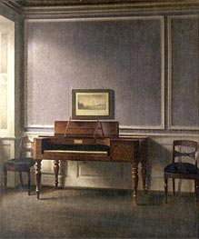 The Music Room, Undated von Hammershoi | Gemälde-Reproduktion