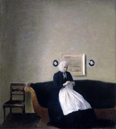 Interior with the Artist's Mother | Hammershoi | Painting Reproduction