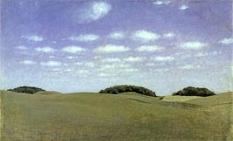 Landscape from Lejre | Hammershoi | Painting Reproduction