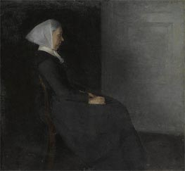 Portrait of the Artist's Mother, Undated von Hammershoi | Gemälde-Reproduktion