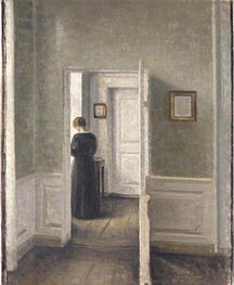 A Woman in an Interior | Hammershoi | Gemälde Reproduktion