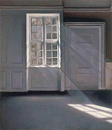 Dust Motes Dancing in the Sunbeams | Hammershoi | Painting Reproduction