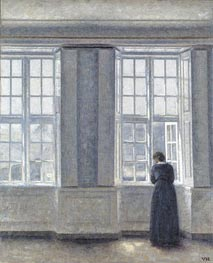Interior, Woman at the Window | Hammershoi | Painting Reproduction