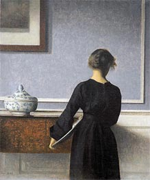 Interior. Young Woman seen from Behind, c.1904 von Hammershoi | Gemälde-Reproduktion