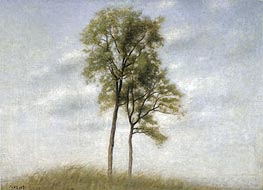 Unge Ege (Young Oak Trees), 1907 by Hammershoi | Painting Reproduction