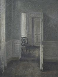 Interior with a Windsor Chair, 1913 by Hammershoi | Painting Reproduction