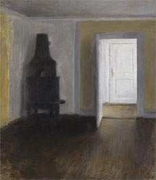 The White Door, 1888 by Hammershoi | Painting Reproduction