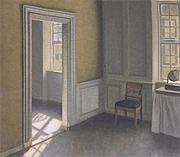 Bedroom, Strandgade 30, 1906 by Hammershoi | Painting Reproduction