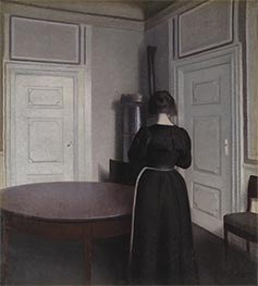 Interior, 1899 by Hammershoi | Painting Reproduction