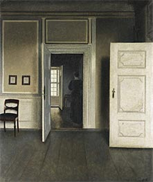 Interior. Strandgade 30, 1901 by Hammershoi | Painting Reproduction