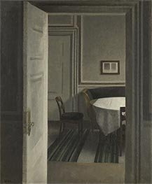 Interior. Strandgade 30 | Hammershoi | Painting Reproduction