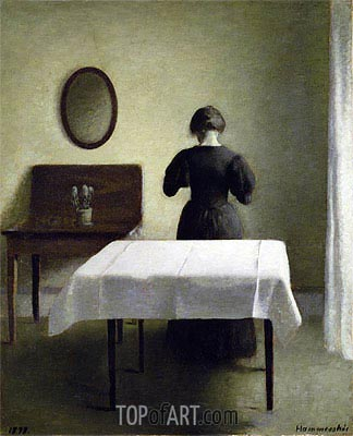 Interior, 1898 | Hammershoi | Painting Reproduction