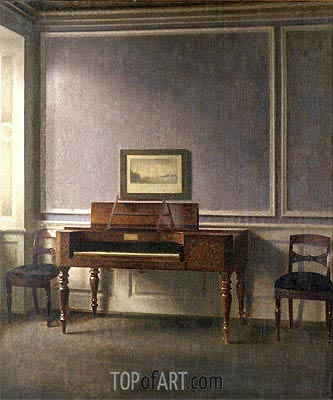 The Music Room, Undated | Hammershoi | Painting Reproduction