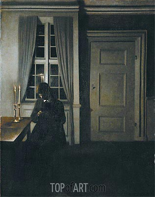 The Collector of Coins, 1904 | Hammershoi | Gemälde Reproduktion