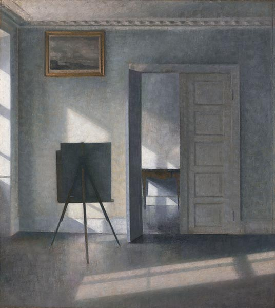 Interior with Easel, Bredgade 25, c.1910/13 | Hammershoi | Gemälde Reproduktion