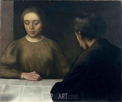 Double Portrait (The Artist and His Wife), 1898 | Hammershoi | Gemälde Reproduktion